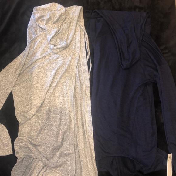 2 identical XL hooded cardigans